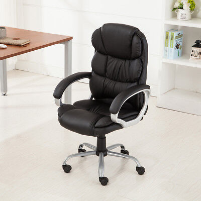 PU Leather Ergonomic High Back Executive Best Desk Task Office Chair (Best High Back Office Chair)