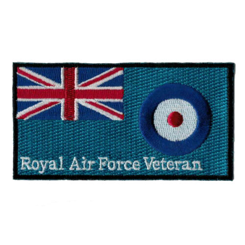 Royal Air Force Veteran Iron or sew on patch - HM Forces RAF Ensign badge