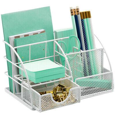 Office Desk Organizer For Supplies Accessories - Mesh Desktop Organization