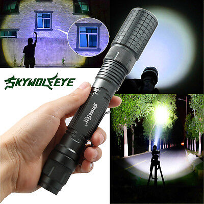 Tactical Police 8000Lumens CREE XM-L T6 LED 5Modes Flashlight Aluminum Torch USA
