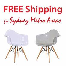 SALE - Eames Style DAW Dining Chair - Transparent Zetland Inner Sydney Preview