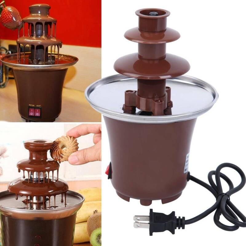Chocolate Fountain Machine Fondue Maker Heated Waterfall Dec