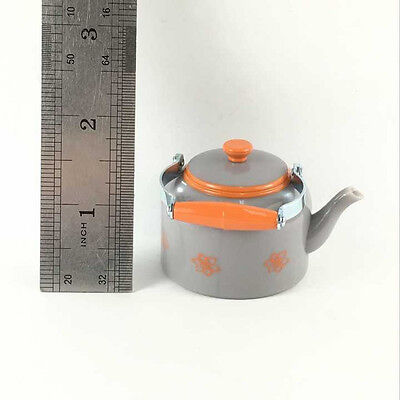"""AMERICAN GIRL DOLL 1.5""""Grey Teapot Kettle Figure LANIE RV CAMPER REPLACEMENT Toy"""