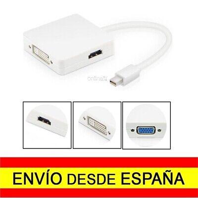 Adaptador OTG 3 en 1 Mini DP (DisplayPort) 4k a DVI, HDMI,VGA...