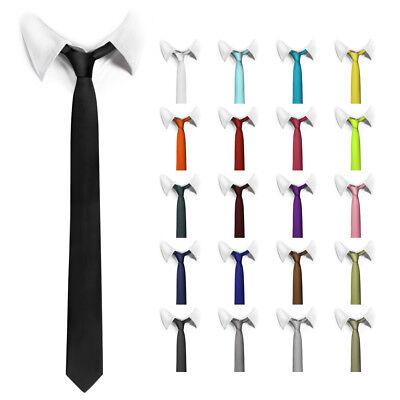 nne Krawatten Herren Tie Schlips Schwarz Rot ManoaShark NEU (Dünne Rote Krawatte)