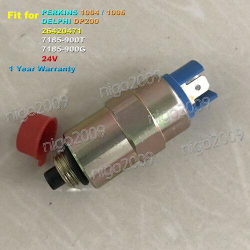 24V Solenoid Valve 26420471 7185-900T for Perkins 1004 1006 DELPHI Pump DP200