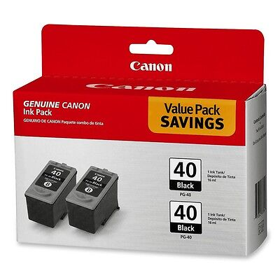 New Genuine Canon PG-40 2PK Ink Cartridges PIXMA iP1600 iP1700 FAX-JX210P JX200  Canon Fax Inkjet Cartridges
