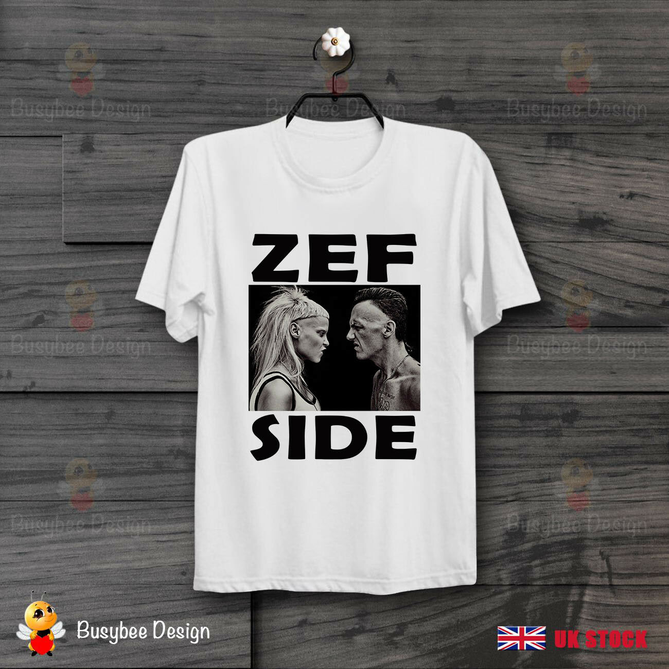ZEF SIDE DIE ANTWOORD LIKE NINJA YOLANDI  Cool Ideal GIFT UNISEX  T Shirt B473