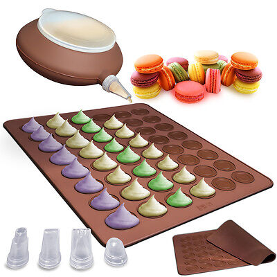 Macaron Silicone Set Pastry Baking Sheet Decorating Cake Cookie Non-Stick Kit