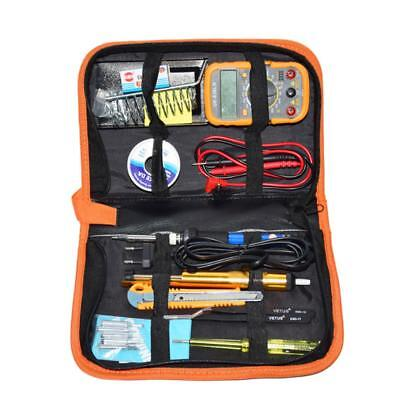 Electric Adjustable Temperature Welding Soldering Iron Multimeter Set 60w Safety