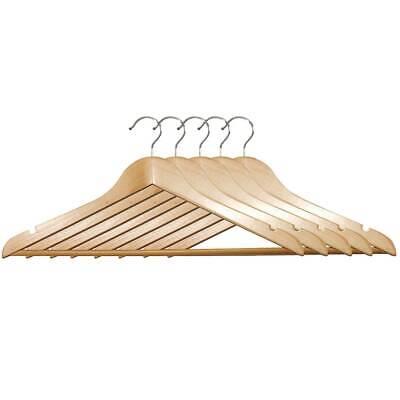 5er Pack Hanger with Hosensteg Width 44,5cm Lotus Wood Natural Kesper