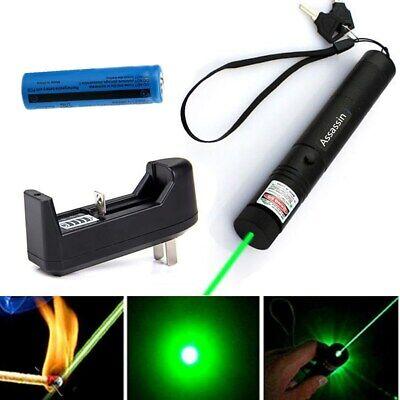 900Miles Green Laser Pointer Pen Visible Beam 18650 Torch Lazer Lamp Waterproof