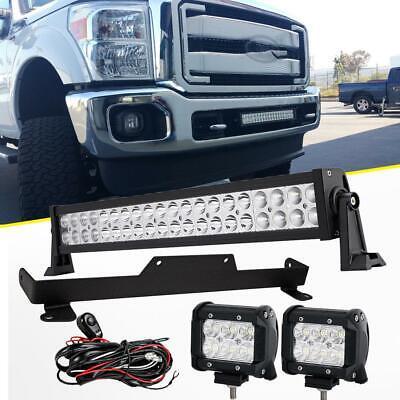"For 2011-2015 Ford F250/350 Super Duty Mount Brackets+22"" 280W+18W LED Light Bar"