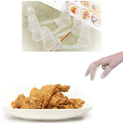 50Pcs Finger Cap for Chicken Hamburger Pizza Sanitary Food Catch Vinyl Gloves