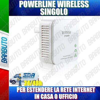 POWERLINE ESTENSORE INTERNET SINGOLO RX NANO 200Mbit/s TENDA P200