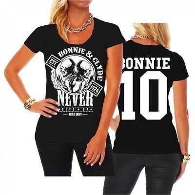 Frauen T-Shirt Bonnie & Clyde GANGSTER Paar Pärchen - Gangster Paar