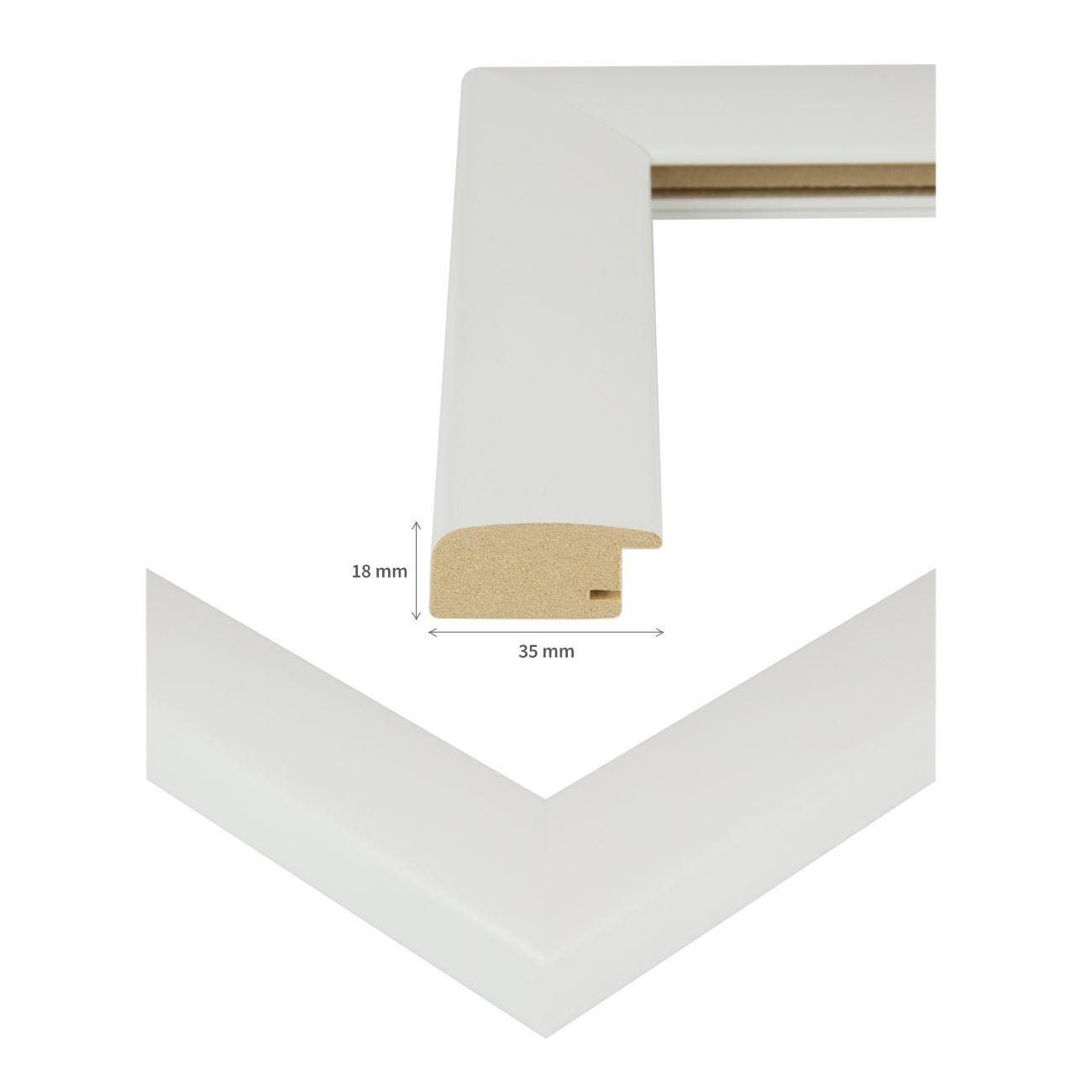 Bilderrahmen Holz Rahmen 50x70 50x75 DIN A1 A0 60x80 60x90 61x91 70x100 80x120 Weiß