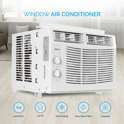5000 BTU Compact Window Air Conditioner 150 Sq Ft Home AC Un