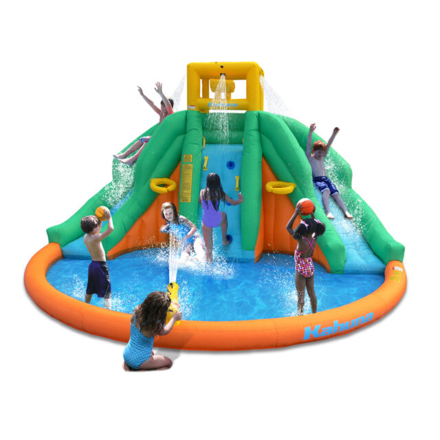 Inflatable Giant Slide: Giant Inflatable Water Park Kids Bouncer House Backyard