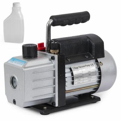Stage 4cfm 13hp Single Rotary Vane Deep Vacuum Pump Hvac Ac Air Tool R410a R134
