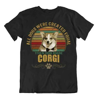 Corgi Dog T-Shirt Cool Cute Gift For Dogs Pet Lovers Best Friend Present
