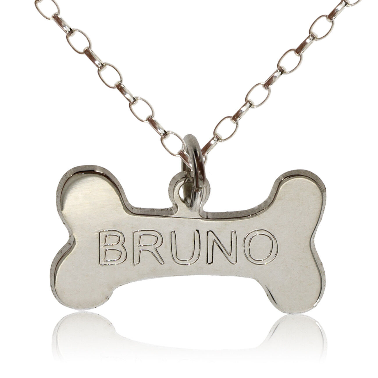 STERLING SILVER BABY FEET TOES INGOT NAME CHAIN DOG TAG BELCHER BOX FREE ENGRAVE