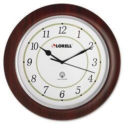 Lorell Wall Clock Arabic Numerals 13-1/4 White Dial/Woodgrain 60986