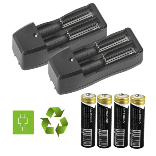 4X BRC Garberiel 18650 3.7v Li-ion Rechargeable Batteries+Ch