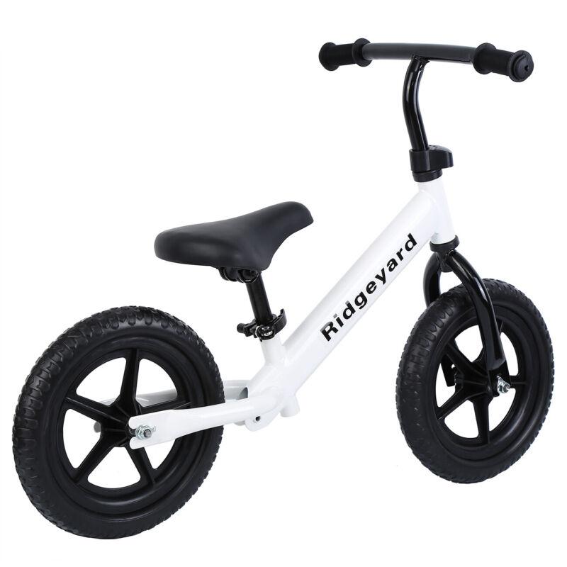 "12"" Balance Bike Classic No-Pedal Learn To Ride Pre Bike + G"