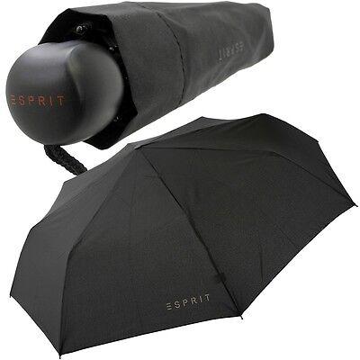 ESPRIT Regenschirm (schwarz) Taschenschirm Teleskopschirm Kurzschirm Minischirm