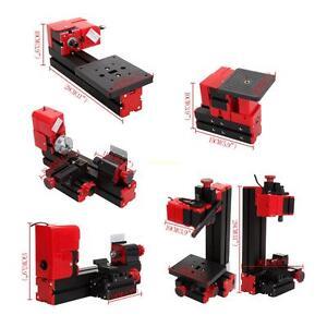 24W Mini Mehrzweck-Maschine 6 In 1 Holz Metall Drehmaschine Fräsen Bohren