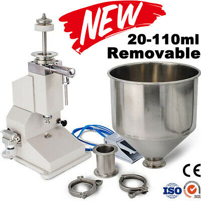 Pneumatic Liquid Filling Machine Cosmetic Filler For Cream Shampoo Paste Water