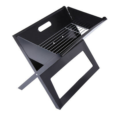Portable Compact Charcoal Barbecue BBQ Grill Smoker Outdoor Camping Meat Cooker