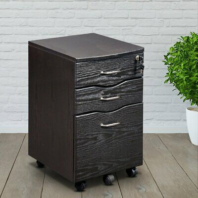 Techni Mobili Rta-s07 Rolling With Locking Storage And File Cabinet
