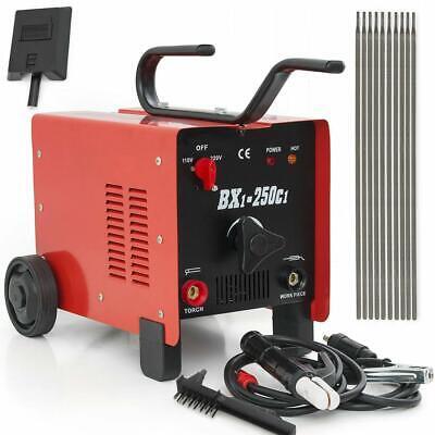 250 Amp Arc Welder Mig 110220 Dual Voltage Ac Welding Machine With Face Mask