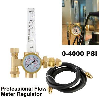 Argon Co2 Mig Tig Flow Meter Regulator Welding Gauge Gas Welder 4000psi W Hose