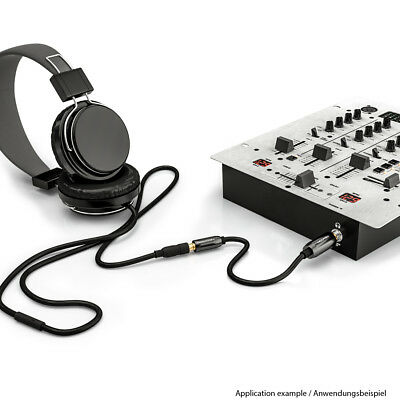 deleyCON Audio Klinken Adapter Kabel 6,3mm Klinke Stecker zu 3,5mm Klinke Buchse