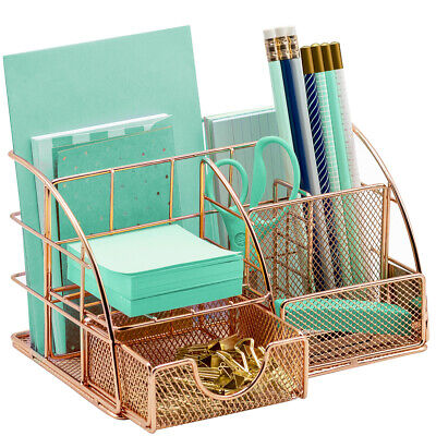 Office Desk Organizer For Supplies Accessories - Mesh Desktop Organization