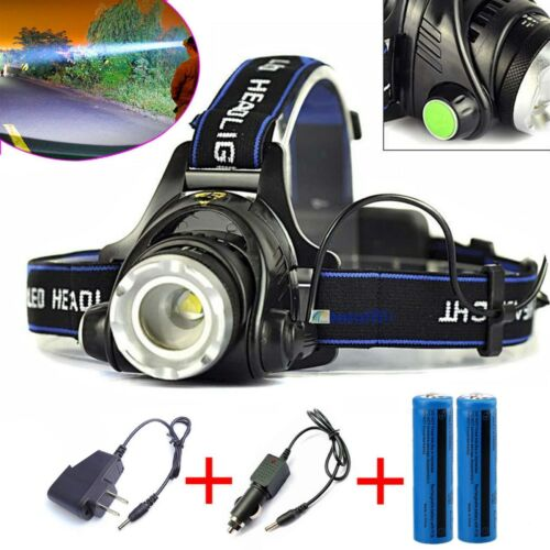 90000LM Powerful Headlamp Tactical LED/COB Rechargeable Ligh