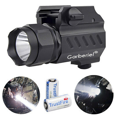 20000LM LED Tactical stund Gun Flashlight 2 Mode Pistol Torch Light with Battery