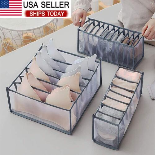 Foldable Drawer Organizer Divider Closet Storage Box For Underwear Bra Sock Home & Garden