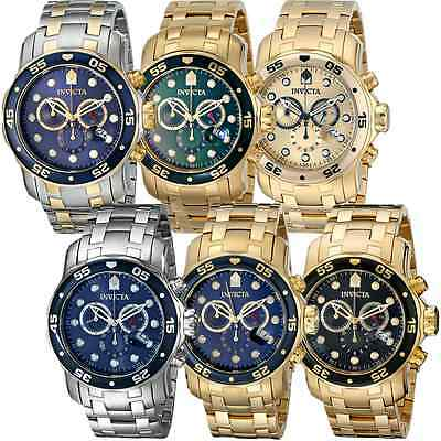 Invicta Pro Diver Chronograph Date Stainless Steel Mens Watch