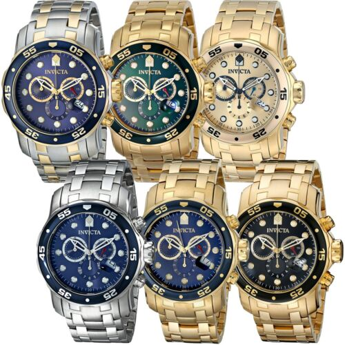Mens Watches - Invicta Pro Diver Chronograph Date Stainless Steel Mens Watch