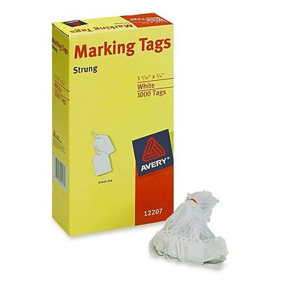 1000 PACK Avery Marking Price Tags Sale Discount Storage White Label Strings