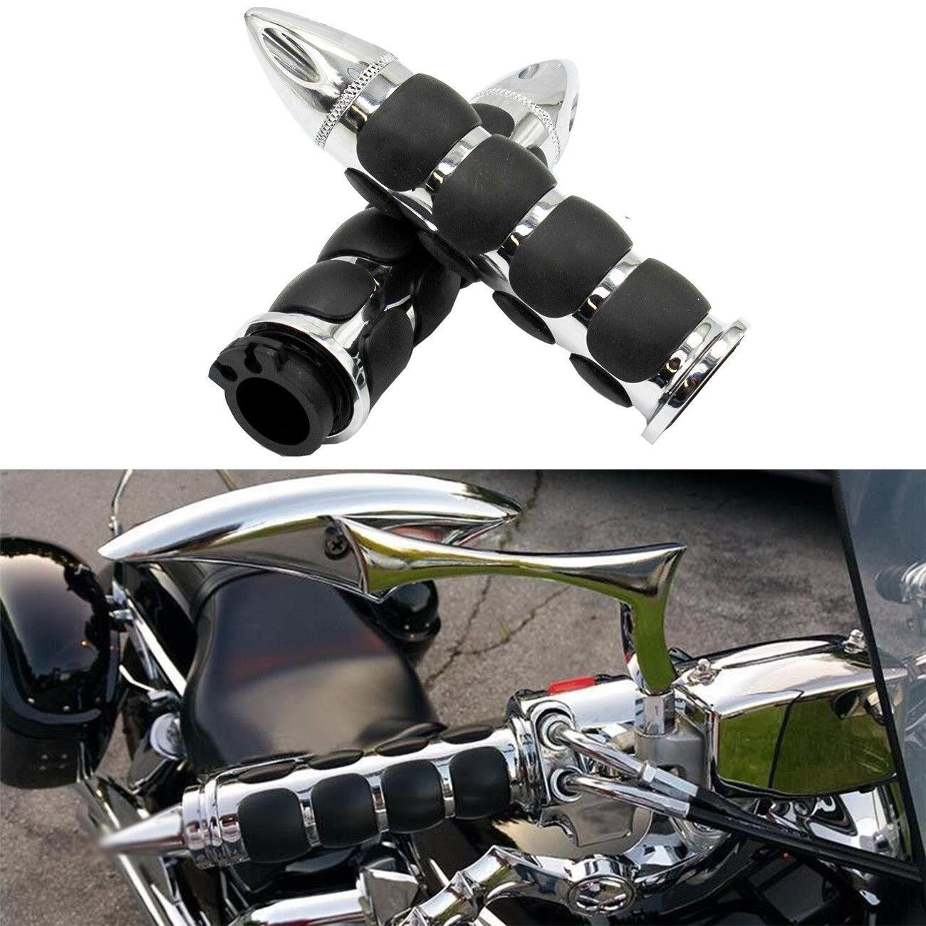 "1/"" 25MM Skull MOTORCYCLE Handlebar Hand Grip for Harley Honda Yamaha Kawasaki AU"
