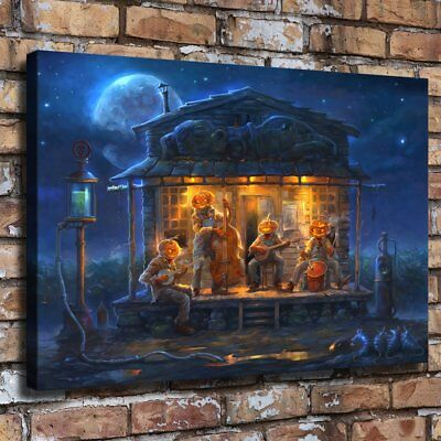 Halloween Paty HD Canvas prints Painting Home Decor Picture Room Wall art 109606 (Halloween Paty)