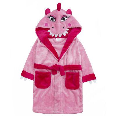 Kleinkind Mädchen Neuheit-Rosa Dinosaurier Robe Bademantel