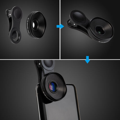Professional 5K HD Phone Camera Photo Lens 20X Macro Lens Clip On Phone Kit Clip Cell Phone Accessories