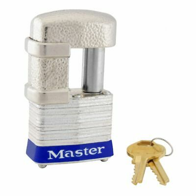 Master Lock 37d 1-916 Laminated Steel Pin Tumbler Padlock With Shrouded Shackle