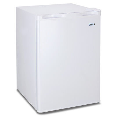 White 2.6 Cu Ft. Compact Refrigerator & Mini Freezer, Small Office Dorm Fridge